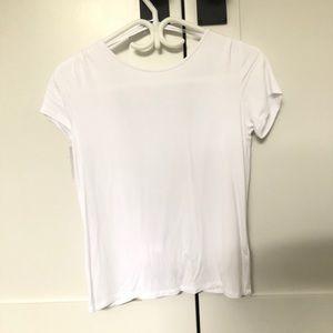 Babaton open back double layered T-shirt